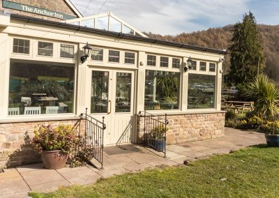 The tea room at The Anchor Inn, Tintern
