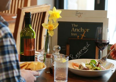 Great food served daily at The Anchor Inn, Tintern
