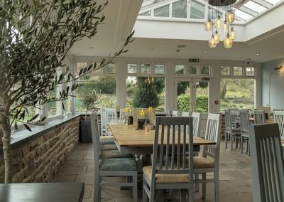 Light and airy tearoom at the Anchor Inn