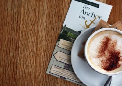 Enjoy a morning coffee before a local walk from the Anchor Inn