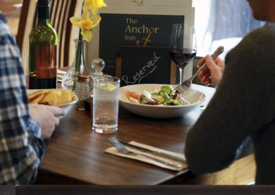 Locally sourced fresh food available for lunch and dinner at the Anchor Inn, Tintern