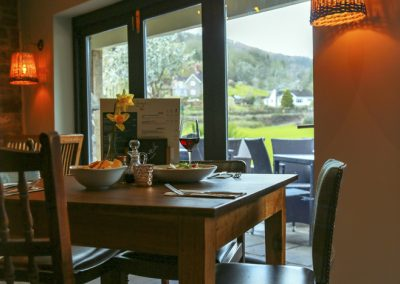 ocally sourced fresh food available for lunch and dinner at the Anchor Inn, Tintern