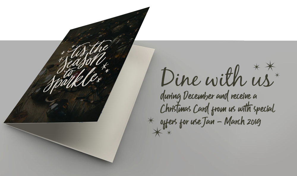 Dine with us during December………..